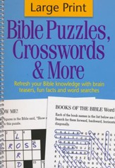 Bible Puzzles, Crosswords & More,  Large Print