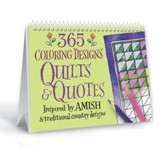 365 Coloring Designs Quilts & Quotes, Perpetual Calendar
