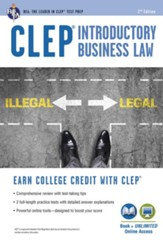 CLEP Introductory Business Law Book  plus online