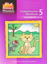 Primary Phonics: Thinking About Mac  & Tab, Workbook 5  (Homeschool Edition)