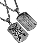 Armor of God Alpha Omega Dog Tag