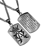 I Know Alpha Omega Dog Tag