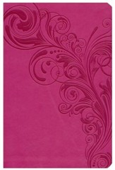 NKJV Giant Print Reference Bible, Pink LeatherTouch, Thumb-Indexed