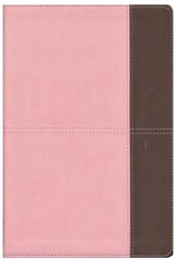 NKJV Giant Print Reference Bible, Pink and Brown LeatherTouch, Thumb-Indexed - Slightly Imperfect