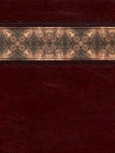 HCSB Apologetics Study Bible, Cinnamon & Brocade LeatherTouch, Thumb-Indexed