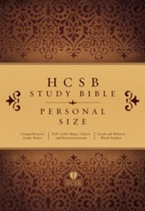 HCSB Personal Size Study Bible, Hardcover, Thumb-Indexed