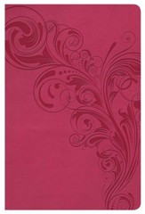 NKJV Super Giant Print Reference Bible, Pink LeatherTouch