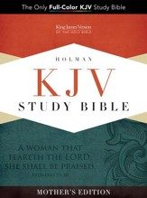 KJV Study Bible, Mother's Edition, Turquoise LeatherTouch - Slightly Imperfect