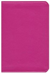 KJV Large Print Compact ColorMax Bible, Hot Pink Leathertouch