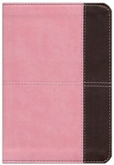 KJV Compact Ultrathin Bible, Pink and Brown Leathertouch