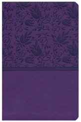 NKJV UltraThin Reference Bible, Purple LeatherTouch - Imperfectly Imprinted Bibles