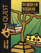 Bible Quest: Words Of Wisdom (Job, Psalms & Proverbs), Student Workbook