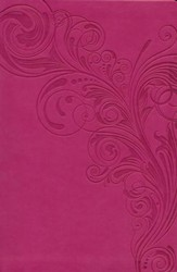 HCSB Giant Print Reference Bible, Pink LeatherTouch