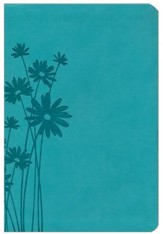 HCSB Giant Print Reference Bible, Teal LeatherTouch, Thumb-Indexed
