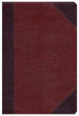 HCSB Giant Print Reference Bible, Classic Mahogany LeatherTouch