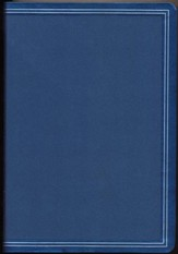 HCSB Giant Print Reference Bible--soft leather-look, cobalt blue