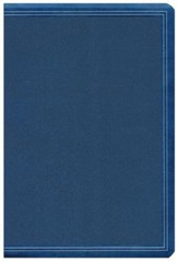 HCSB Large-Print Personal Size Bible--soft leather-look, cobalt blue