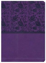NKJV Holman Study Bible--soft leather-look, purple (indexed) - Slightly Imperfect