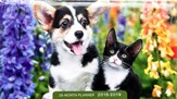 2018-2019 Whiskers and Paws, 28 Month Planner
