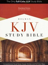 KJV Study Bible--soft leather-look, purple (indexed) - Slightly Imperfect