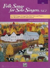 Folk Songs for Solo Singers 2-High Voice / Book