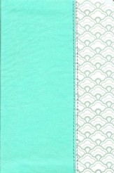 NKJV Compact Ultrathin Bible--soft leather-look, mint green