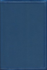 NKJV Giant-Print Reference Bible--soft leather-look, cobalt blue (indexed)