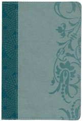 The Study Bible for Women, NKJV Edition, Teal and Sage LeatherTouch, Thumb-Indexed