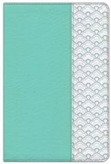 HCSB Giant Print Reference Bible--soft leather-look, mint green (indexed)