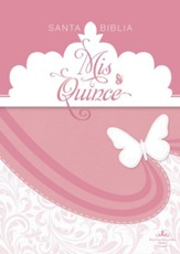 RVR 1960 Biblia Mis Quince, rosa y blanco simil piel (RVR 1960 Mis Quince Bible, Pink and White LeatherTouch)