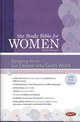 NKJV Study Bible for Women, Large  Print Edition, Hardcover - Slightly Imperfect