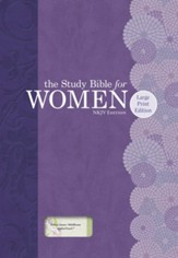 NKJV Study Bible for Women, Large Print Edition, Willow Green and Wildflower LeatherTouch, Thumb-Indexed
