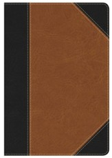 HCSB Personal Size Study Bible, Black and Tan LeatherTouch, Thumb-Indexed