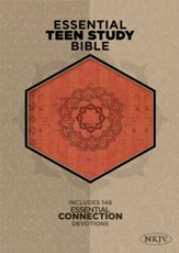 NKJV Essential Teen Study Bible, Orange Cork LeatherTouch