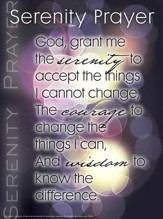 Serenity Prayer Laminated Wall Chart