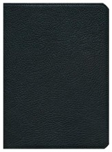 NKJV Clarion Reference Bible--goatskin leather, black - Slightly Imperfect