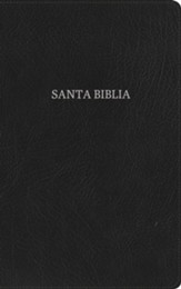 RVR 1960 Biblia Ultrafina, negro piel fabricada con índice, RVR 1960 Ultrathin Bible, Black Bonded Leather, Thumb Indexed