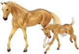 Palomino Quarter Horse and Foal Set