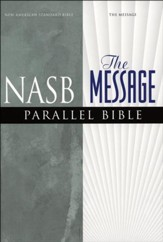NASB Message Parallel Bible, Imitation Leather Black
