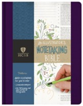 HCSB Illustrator's Notetaking Bible--clothbound hardcover, purple - Slightly Imperfect