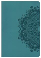 HCSB Super Giant Print Reference Bible, Teal LeatherTouch, Thumb-Indexed - Slightly Imperfect