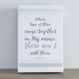 In My Name, I Am There With Them, Canvas Wall Art