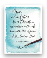 Written Ink, You are a Letter from Christ Blank Note Cards, Set of 10