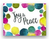 Trend Notes Gold Foil Watercolor Dots, Joy & Peace, Note Cards, Set of 10