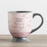 The Struggle Is Real, but So Is God Pedestal Mug
