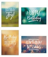 Birthday, Simply Stated Cards, Box of 12