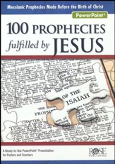 100 Prophecies Fulfilled by Jesus PowerPoint® CD-ROM  - Slightly Imperfect