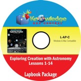 Apologia Exploring Creation with Astronomy Lapbook Package (Lessons 1-14) PDF CD-ROM