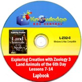 Exploring Creation with Zoology 3: Land Animals of the 6th Day Lessons 7-14 Lapbook CD-Rom