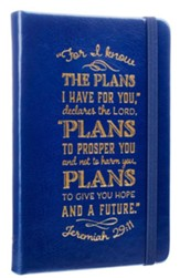 I Know the Plans, Blue Lux-Leather, Notebook